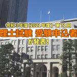 令和3年度・第71回 税理士試験 受験申込者数発表_2021